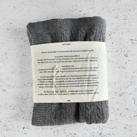 Moyha - Gebreide wollen plaid  - Grijs - Soft Wool