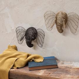 Nkuku - mini olifantenhoofd - Roest