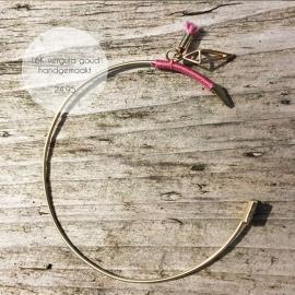 Treasure Rookie open armband - Bowho - roze
