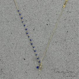 Treasure Rookie ketting - Throphy Hunt - blauw