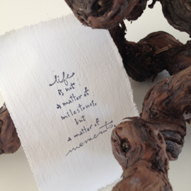 Afro Dutch Paperstone kaart - Life is not...