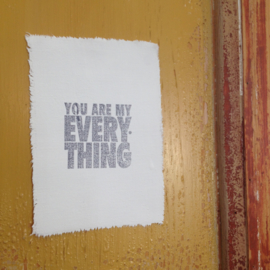 Afro Dutch paperstone kaart- You are my everything