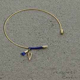 Treasure Rookie open armband - Bowho - blauw