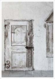 Love Warrior - White Old Door - Poster 30 x 40 cm