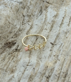 Treasure rookie  ring - golden trail - roze