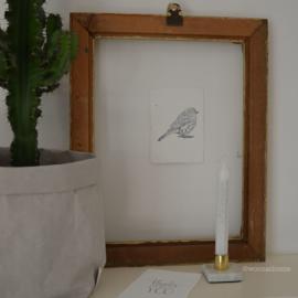 Afro Dutch paperstone kaart-  Vogel
