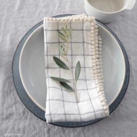 Servet van  gewassen linnen  - set van 2 - 46 cm x 46 cm