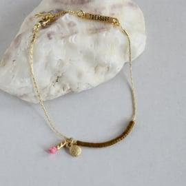 Treasure Rookie armband - Columbussy - roze