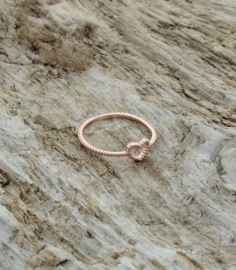 Treasure Rookie - rose gouden ring - heart to get