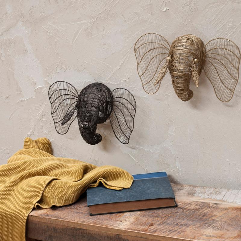 Nkuku - mini olifanten hoofd - Roest
