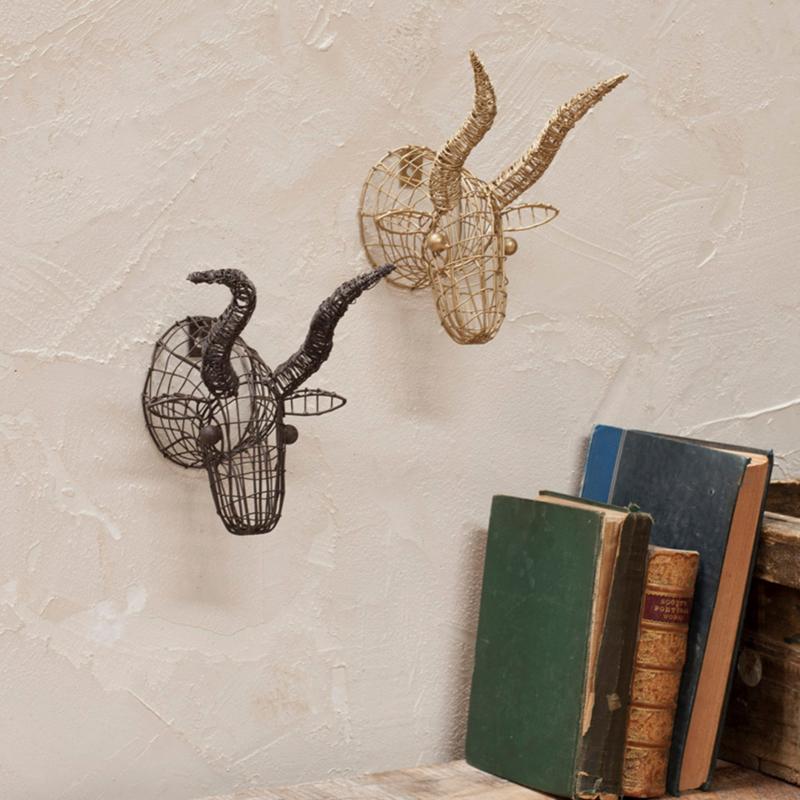 Nkuku - mini stieren hoofd - Messing