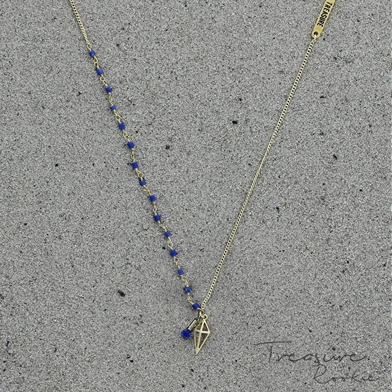 Treasure Rookie ketting - Throphy Hunt - blauw
