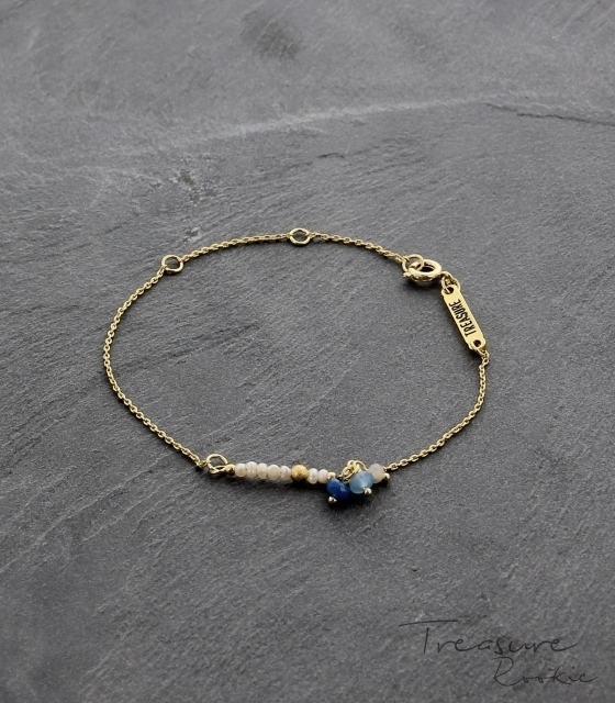 Treasure Rookie armband - Be Pearly - blauw