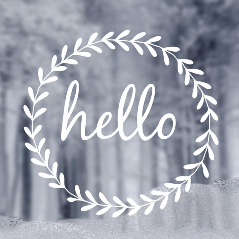 Delight Department raamsticker - Hello