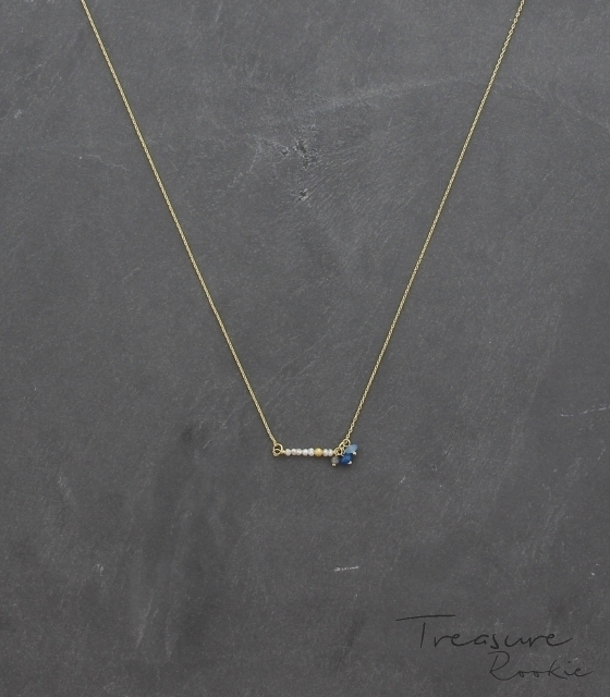 Treasure Rook ketting - Be Pearly - blauw