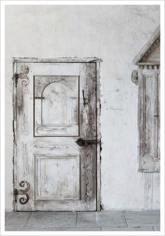 Love Warrior - White Old Door - Poster 30 x 40 cm