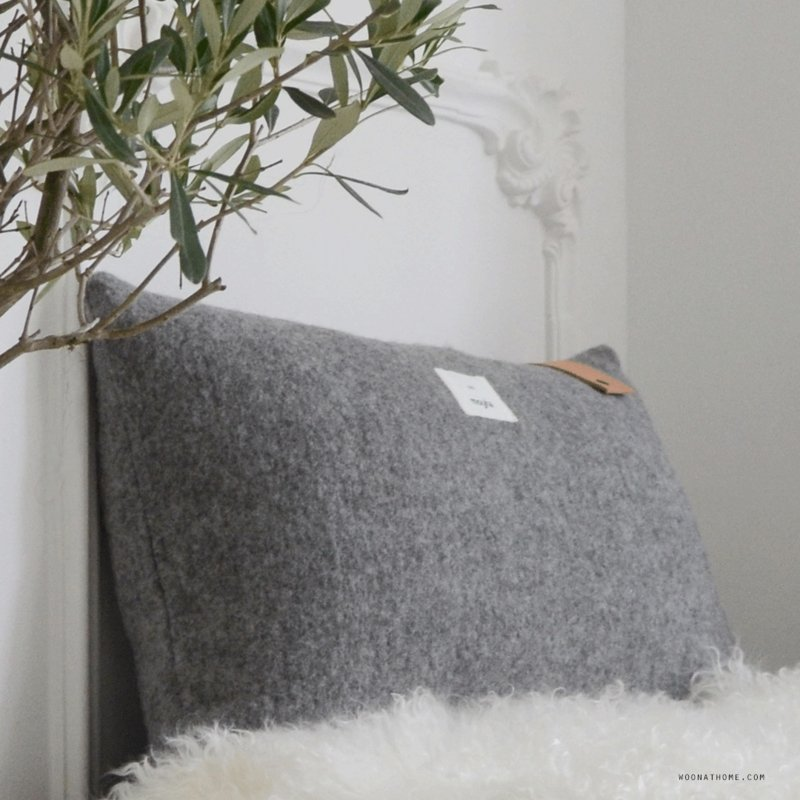 Moyha - Homely kussen - Grijs - 60 cm x 40 cm