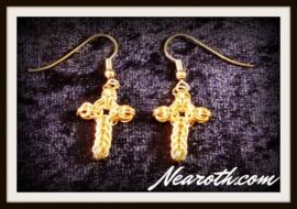 Earrings crosses gold plated
