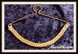 Necktie chain goldplated