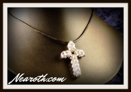 Pendant cross silverplated