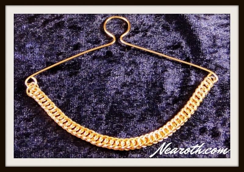 Necktie chain goldplated