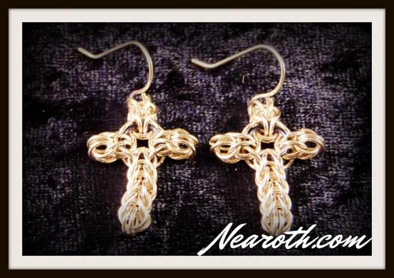 Earrings crosses silver (925)