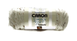 Caron Simply Soft Tweeds 23001 Off White