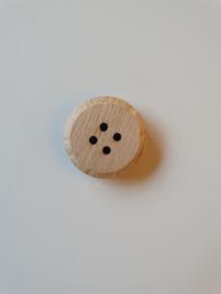 Robuste houten knoop blank 3 cm