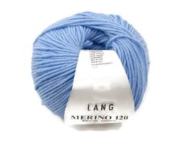 Lang Yarns Merino 120 0020 Hemelsblauw