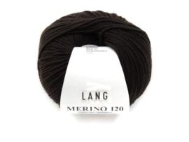 Lang Yarns Merino 120 0168 Donkerbruin