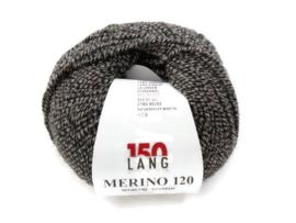 Lang Yarns Merino 120 0055 Zwart Grijs Mix