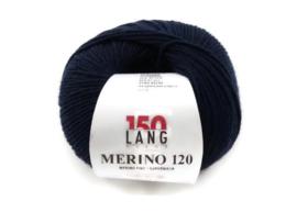 Lang Yarns Merino 120 0025 Donkerblauw
