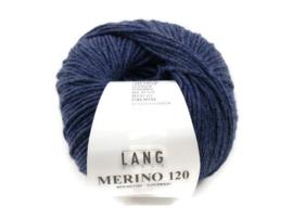 Lang Yarns Merino 120 0234 Denim Melange