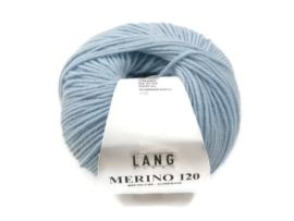 Lang Yarns Merino 120 0173 IJsblauw