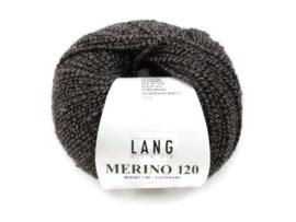 Lang Yarns Merino 120 0050 Zwart Taupe Mix