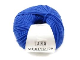Lang Yarns Merino 120 0031 Kobaltblauw