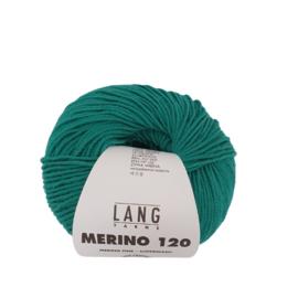 Lang Yarns Merino 120 0517 Donker Zeegroen