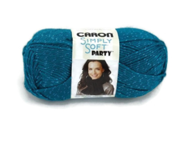 Caron Simply Soft Party 0004 Teal Sparkle