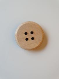 Robuste houten knoop blank 4 cm