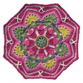Persian Tiles deken haakpakket Life DK limited edition pink