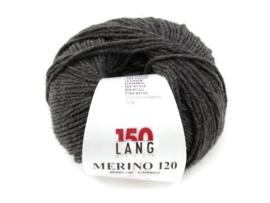 Lang Yarns Merino 120 0270 Donkergrijs Melange