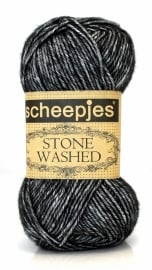 Scheepjeswol Stone Washed 803 Black Onyx
