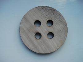 Robuste houten knoop blank 8,5 cm