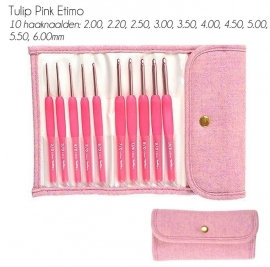 Tulip Etimo haaknaaldenset Candy Softgrip Wool Pink