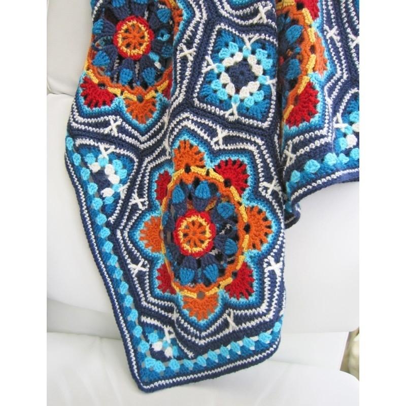 Persian Tiles deken haakpakket Life DK light blue