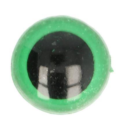 Veiligheidsoogjes groen 10 mm