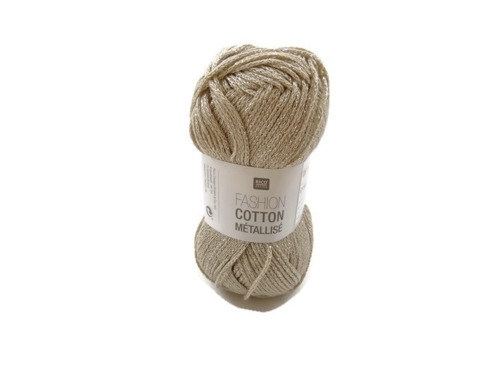 Rico Design Fashion Cotton Métallisé 001