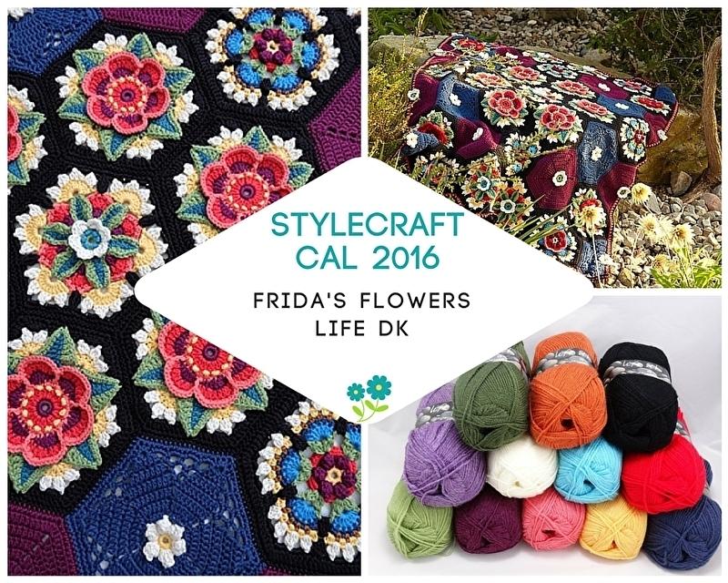 Haakpakket Stylecraft CAL 2016 Frida's Flowers Life DK