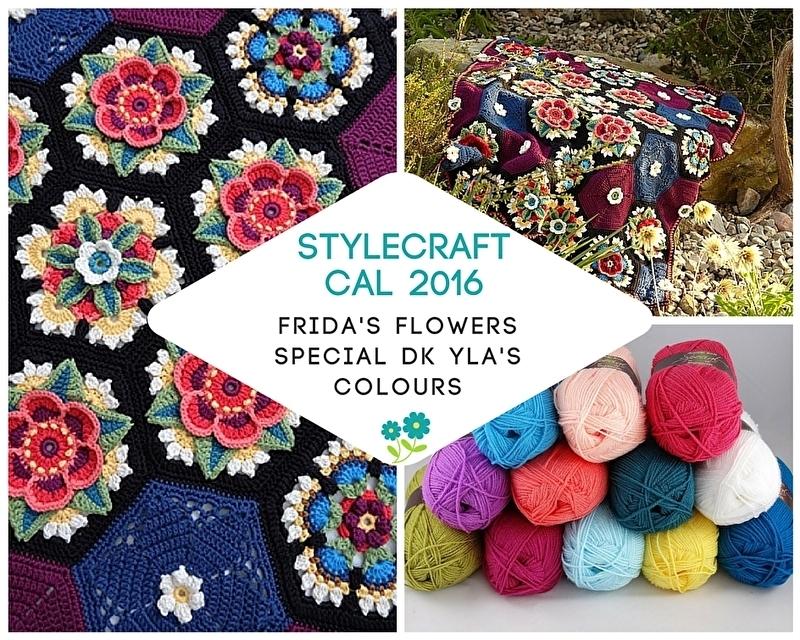 Haakpakket Stylecraft CAL 2016 Frida's Flowers Special DK YLA's Colours