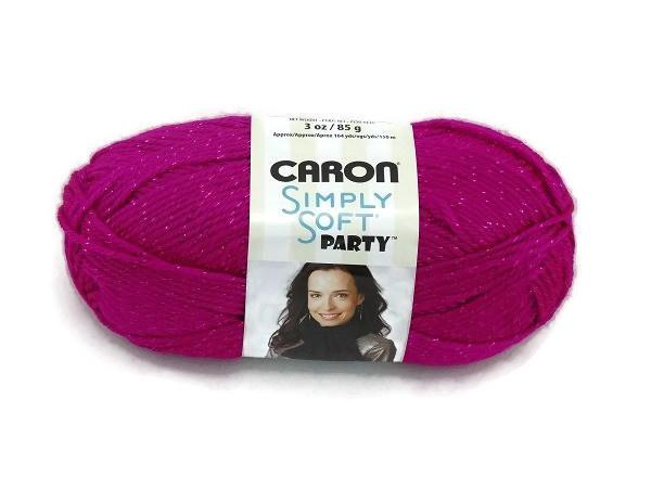 Caron Simply Soft Party 0002 Fuchsia Sparkle